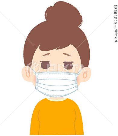 マスクをしている女性 65359931