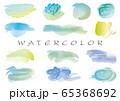 ベクター 水彩手描き背景セット 65368692
