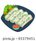 Fresh spring roll vector illustration. 65379451