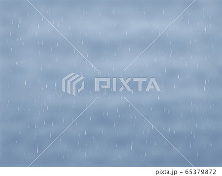 どんより雲と雨・横長 65379872