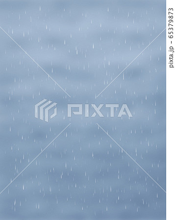 どんより雲と雨・縦長 65379873