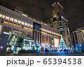 イルミネーションでライトアップされたJR札幌駅 65394538