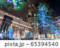 イルミネーションでライトアップされたJR札幌駅 65394540