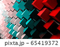 colorful geometric diagonal background, abstract background, horizontal. 3D illustration 65419372