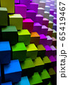 colorful geometric diagonal background, abstract background, vertical. 3D illustration 65419467