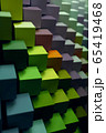 colorful geometric diagonal background, abstract background, vertical. 3D illustration 65419468