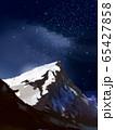 月  星空 山 65427858