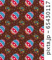 Easter eggs of seamless pattern on brown background 65430117