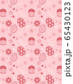Easter eggs and flower of seamless pattern on pink background 65430123