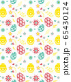 Seamless pattern on colorful Easter egg background 65430124