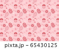 Easter eggs of seamless pattern on pink background 65430125