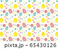 Seamless pattern on colorful Easter egg background 65430126