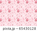 Easter eggs of seamless pattern on pink background 65430128
