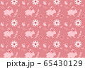 Cute seamless pattern with rabbit cartoon and flower background 65430129