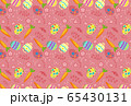 Seamless pattern on colorful Easter egg and carrots background  65430131