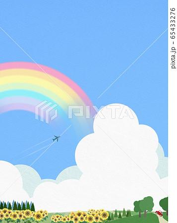 背景-青空-夏-ひまわり 65433276