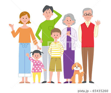 3世代家族 集合 65435260