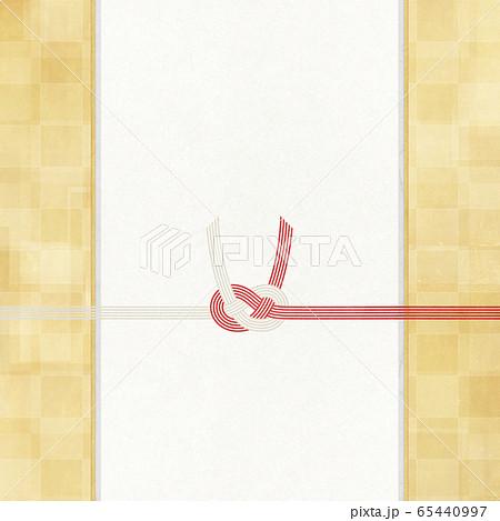 和風素材 金箔-和紙-水引-和柄-背景-のし紙-ご祝儀 65440997