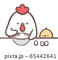 ニワトリ親子お菓子作り 65442641