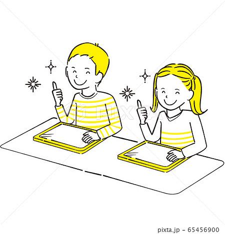 手描き1color  男の子女の子 ペンタブレット いいね! 65456900
