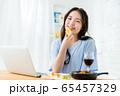 オンライン 飲み会 女性 家 65457329