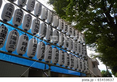 神社の提灯(中目黒八幡神社/東京都目黒区中目黒3-10-5) 65459637