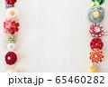 つまみ細工の簪 背景用 65460282