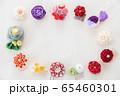 つまみ細工の簪 背景用 65460301
