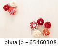 つまみ細工の簪 背景用 65460308