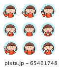 女の子/表情しぐさ/丸アイコン/セット1 65461748