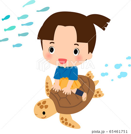 亀に乗った浦島太郎 65461751