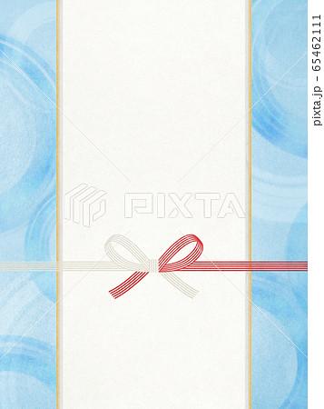 和風素材 水引-和紙-蝶結び-のし紙 65462111