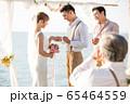 ロマンチックなリゾートウェディング 65464559