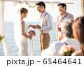 ロマンチックなリゾートウェディング 65464641