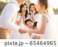 ロマンチックなリゾートウェディング 65464965