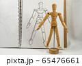 デッサン人形と鉛筆画による写生 65476661