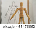 デッサン人形と鉛筆画による写生 65476662