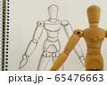 デッサン人形と鉛筆画による写生 65476663