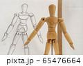 デッサン人形と鉛筆画による写生 65476664