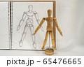 デッサン人形と鉛筆画による写生 65476665
