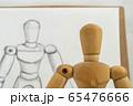 デッサン人形と鉛筆画による写生 65476666