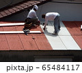 台風で損壊した屋根の補修 65484117