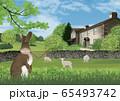 春のイギリス湖水地方のイラスト 65493742