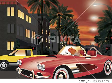 LA 街並みのイラスト 65493779