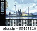 上海 東方明珠塔と浦東新区のイラスト 65493810