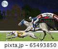 ドックレースと競馬のイラスト 65493850