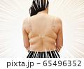 中年の肥満女性のイメージ(集中線あり) 65496352