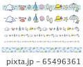 夏素材 ラインセット  ポストカード 65496361
