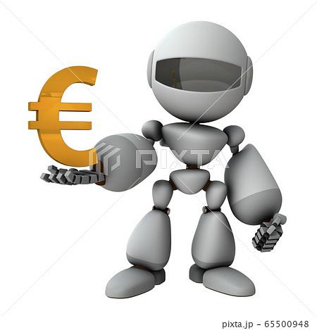 ユーロ経済を支配する人工知能のロボット 65500948