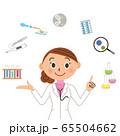 医者 研究者 女性 医療スタッフ 65504662